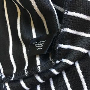 Lane Bryant Dresses - Lane Bryant Striped Dress, Black/White, Pockets